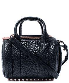 720f816c05 Alexander Wang Mini Black Rockie Pebbled Leather Bag Pebbled Leather