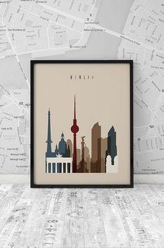 Berlin print Printable Poster Wall Art Travel by ArtFilesVicky