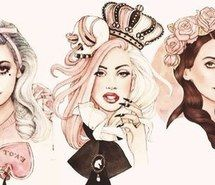 Inspiring image Lady gaga, marina and the diamonds, drawing, crown, lana del rey, cartoon, queens, pink #1592026 by aaron_s - Resolution 500x261px - Find the image to your taste