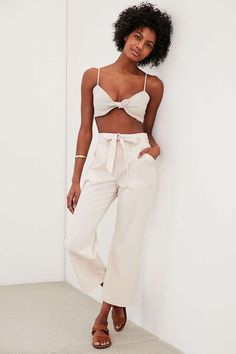 Kimchi Blue Knot Cropped Top #UrbanOutfitters