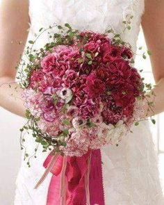 Carnation Bridal Bouquet, Carnation Wedding, Flower Bouquet Wedding, Summer Wedding Bouquets, Bridal Bouquets, Elegant Flowers, Carnations, Ranunculus, Peony