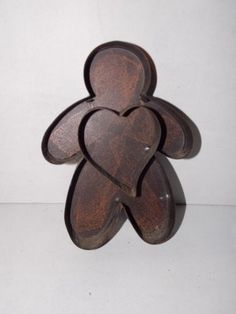 Vintage Rustic Metal Gingerbread Cookie Cutter Christmas Decoration Holiday | eBay