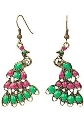 peacock earrings...
