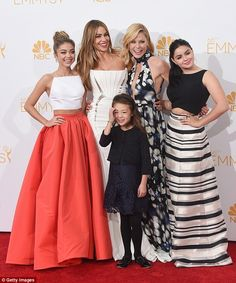 Close: Ariel said her Modern Family costars Julie Bowen and Sofia Vergara were extremely supportive of her decision