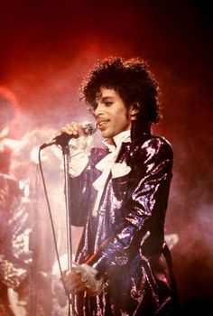 Prince performs during the Purple Rain Tour