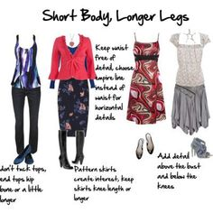 Body Proportions Explained - Short Body, Longer Legs - Inside Out Style Short Legs Long Torso, Short Waist, Fashion And Beauty Tips, Fashion Advice, Fashion Looks, Inside Out Style, Hippy Chic, Body Proportions, Body Shapes