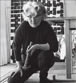 Willy Barns Graham in her Barnaloft studio, St Ives