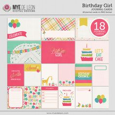 Birthday Girl | Journal Cards - Snap Click Supply Co.