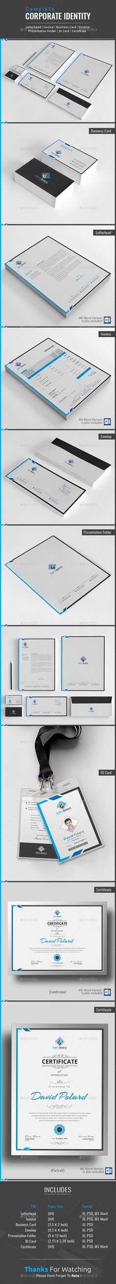 Corporate Identity - Stationery Print Templates Download https://graphicriver.net/item/corporate-identity/17526589?ref=themedevisers