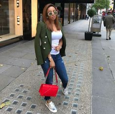 WEBSTA @ tokemakinwa - Citizen of the world 🌎 Balmain Blazer, Ootd Fashion, Slay, Fashion Photography, Casual Outfits, Instagram Posts, How To Wear, Lunch Money, Blazers
