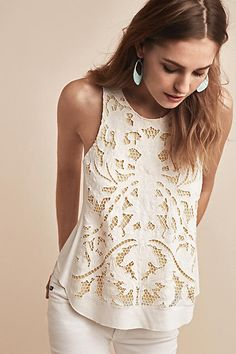 Filigree Lace Tank - anthropologie.com