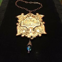 Casket Plate Jewelry @ruedelamort Casket, Plates, Pendant Necklace, Jewelry, Licence Plates, Dishes, Jewlery, Griddles, Jewerly
