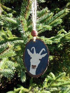 Goat Ornament Christmas ornaments Goat Decor by TheChickenStudio