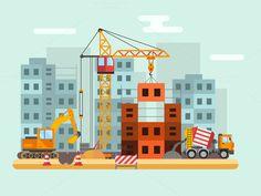 Building under construction vector  @creativework247