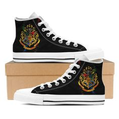 Harry Potter High Top Canvas Shoe - Hogwarts Logo