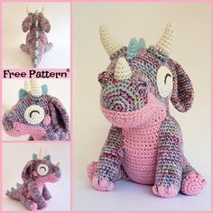 Cute Little Crochet Orbit Dragon – Free Pattern #freecrochetpatterns #toys #dragon #giftidea