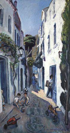 "Ramón Moscardó: ""Carrer a mar"" Barcelona, Arte Online, Costa, Photos, Painting, Self, Canvases, Paintings, Art Auction"