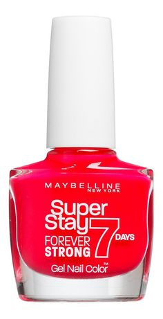 Maybelline Forever Strong Pro 490 Nail Varnish, Hot Salsa 10 ml