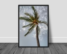 Palm Tree Print, Palm Trees, Prints For Sale, Digital Prints, Hawaii, Photograph, Unique Jewelry, Handmade Gifts, Etsy