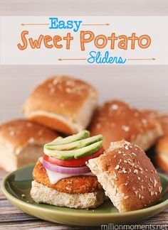 Easy Sweet Potato Sliders - A Million Moments I'd like to start using sweet potatoes more. I hear they're good for you... need to research!