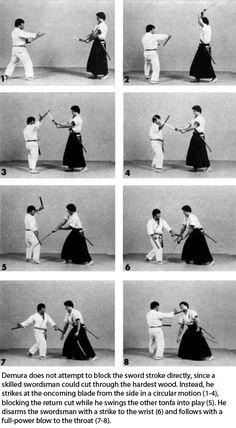 Tonfa vs. Swords! Fumio Demura demonstrates how karate weapons like the tonfa…