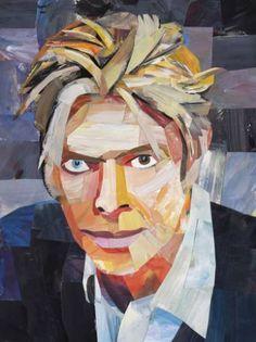 Original Pop Culture/Celebrity Collage by Harry Ergott David Bowie Art, Artist Names, Caricature, Saatchi Art, Collage, Artwork, Fictional Characters, Pop Art, Paintings