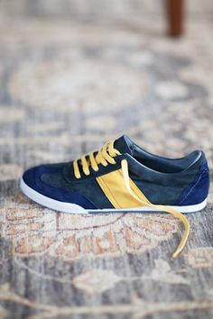 EF Trainers - Navy & Yellow | Emerson Fry