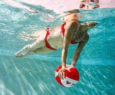 full body workout in the pool. feels like play but burns tons of calories. Save for summer.