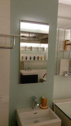 Single Door, Wide SIDLER LED Mirrored Cabinet   To See The Entire  Collection Of Lighted Medicine Cabinets, Visit AF NY.