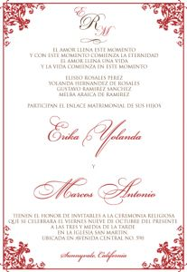 Blusa bordada wedding invitation ecru spanish wedding invites at wording for spanish wedding invitations the wedding specialists stopboris Gallery