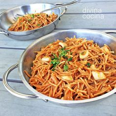 Fideuá a banda el principal: ingredientes es un buen caldo de pescado, como ocurre con el arroz. De la calidad y sabor del caldo dependerá el éxito del plato.