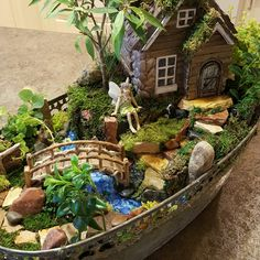 If you are looking for Indoor Fairy Garden Ideas, You come to the right place. Here are the Indoor Fairy Garden Ideas. This article about Indoor Fairy Garden Ide. Fairy Garden Pots, Indoor Fairy Gardens, Fairy Garden Houses, Diy Garden, Gnome Garden, Miniature Fairy Gardens, Garden Crafts, Garden Projects, Outdoor Gardens