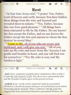 ~ Jesus is the ONLY WAY to the Father (Matthew 11:27, John. 14:6-8); ~ Jesus made God APPROACHABLE (Matthew 11:28-30)