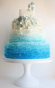 blue wedding cakes - Google Search