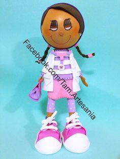 Fofucha doctora juguetes  Disney custom doll  DIY doll  Crafts Facebook.com/tam.artesania