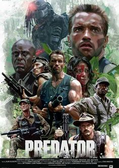 What's your favorite quote from Predator? Predator poster by David Benzal. Best Movie Posters, Classic Movie Posters, Movie Poster Art, Sci Fi Movies, Action Movies, Horror Movies, Cult Movies, Comic Movies, Action Film