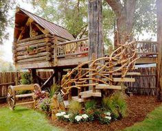 Cool Tree House and fence