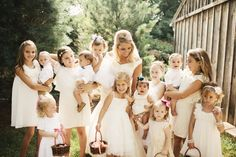 to have all the little relatives/his little relatives in our wedding and have them all wear white? love.
