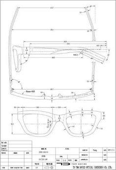 09924cbe70 glasses technical drawings ile ilgili görsel sonucu Boceto, Marcos De  Anteojos, Lentes De Madera