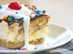 Banana Split Icebox Cake - this can be gluten free if gf graham crackers and walnuts are used