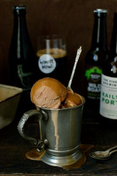 Chocolate porter ice cream - creamy milk chocolate ice cream made with ...