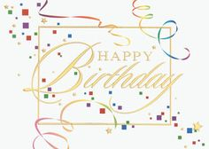 Toss the streamers and confetti and send your best birthday wishes with this card from Greeting Card Collection.