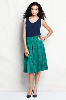 Women's Pattern Knit Matte Jersey Skirt from Lands' End