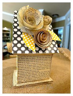 Diy Birdhouse With Vintage Book Pages