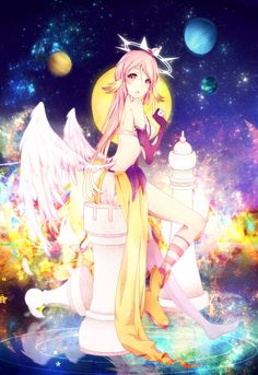No Game No Life: Jibril by ryetou on DeviantArt Shiro, Manga Anime, Manga Girl, Anime Girls, Awesome Anime, Anime Love, Kingdom Hearts, Fantasy Anime, Fantasy Girl