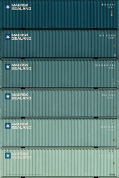 I think I could fill a whole pinterest category with pretty pictures of shipping containers.