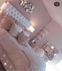 35 Best DIY Pink Living Room Decor Ideas For Teenage Girls - Page 13 - Chi ., 35 Best DIY Pink Living Room Decor Ideas For Teenage Girls - Page 13 - Chic Cu . room When it reaches to bedroom decor thoughts, a few things bring facility stage. Pink Bedroom Design, Girl Bedroom Designs, Pink Bedroom Decor, Cream And Pink Bedroom, Diy Bedroom Decor For Teens, Diy Room Decor Tumblr, Pink Home Decor, Bedroom Green, Cute Room Ideas