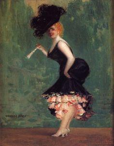 Los bailarines, by George Benjamin Luks