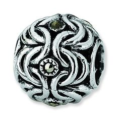 Sterling Silver Reflections Marcasite Bali Bead Charm * Check out this great product.
