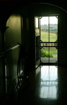 Always love the view from inside the house looking out through a screen door..